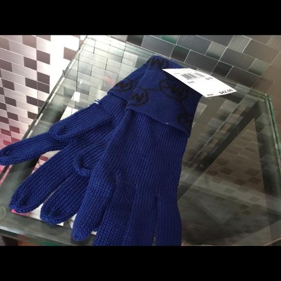 Michael Kors Accessories - Michael Kors Blue and Black Gloves